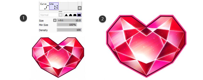 Create borders using vector tools
