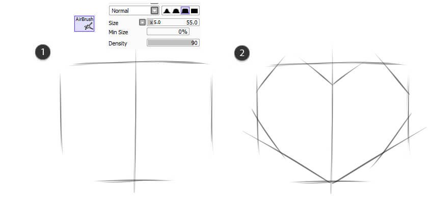 Sketch the initial shape