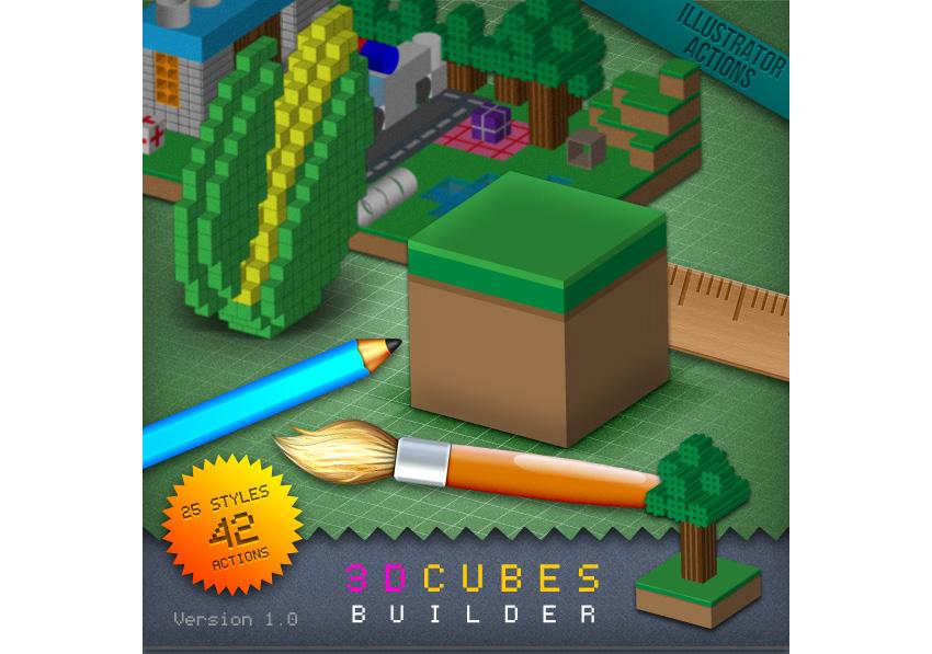 3D Cubes Builder