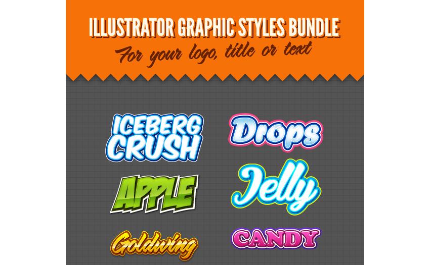 Illustrator Logo Graphic Styles Bundle 1