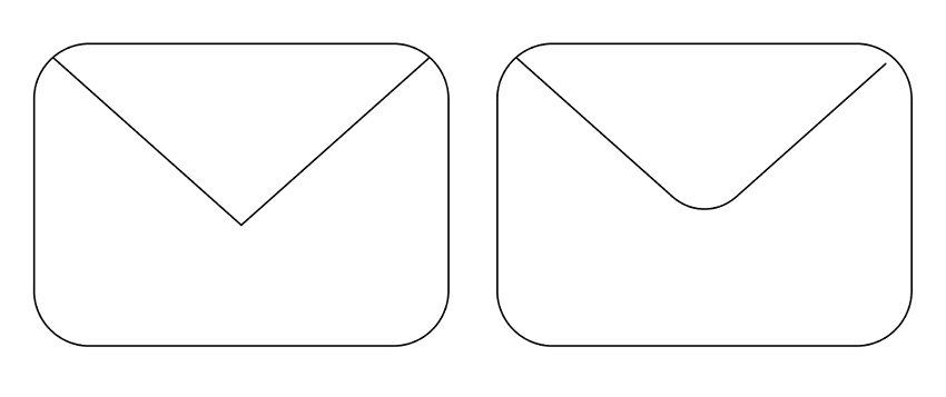 Create the envelops rounded flap