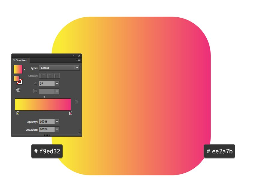 Add a gradient to the square