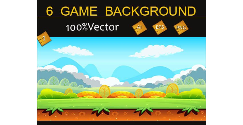 6 Game Backgrounds