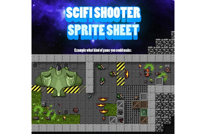 Scifi Shooter Sprite Sheet