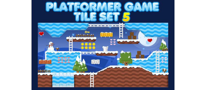 Platformer Game Tile Set 5