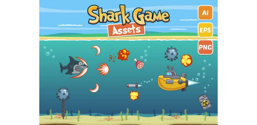 Shark Game Assets