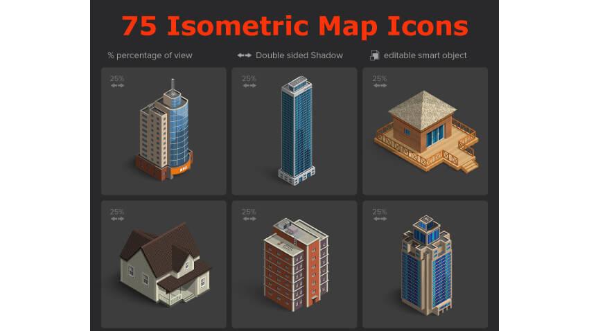 Isometric Map Icons Vol01