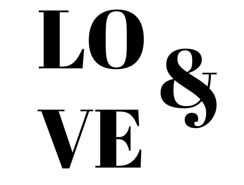 Using the Type Tool T write out a quick word or two Ive chosen LO VE for my type