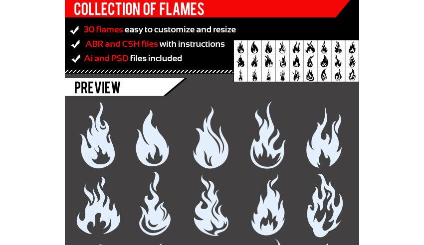 Collection Of Flames