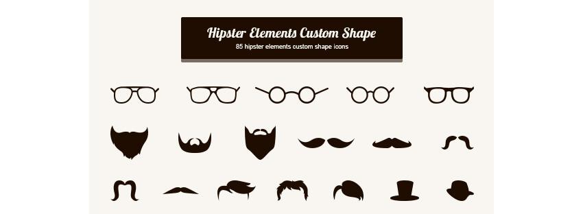 Hipster Elements Custom Shape