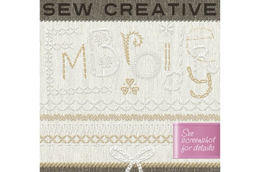 Embroidery 100 Sewing Stitches with Fabrics