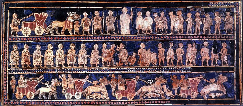 Standard of Ur 26th century BC War panel