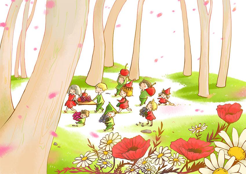 The Littles_Harvest fruits
