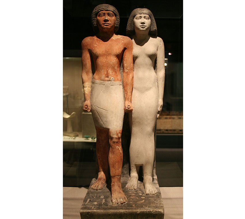 Statue of Iaiib and his wife Chuaut Giza 4th dynasty