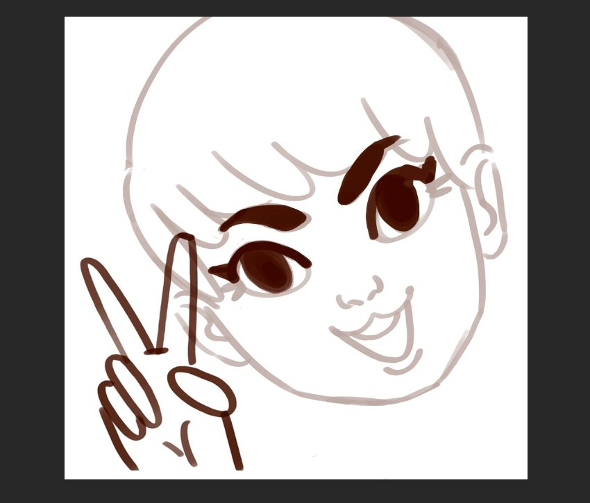 Make Your Own Emote Twitch Tutorial Work up your line art