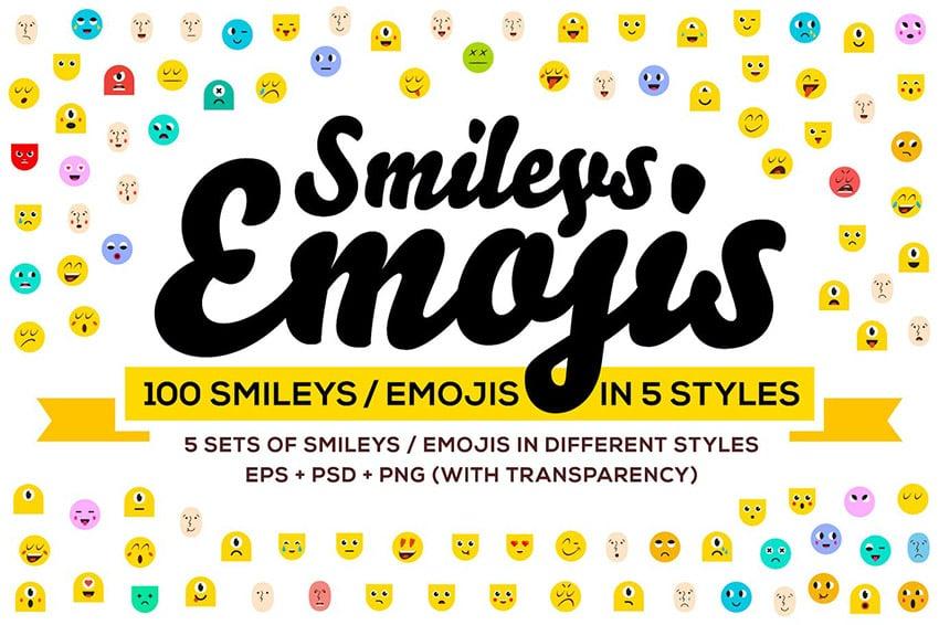 100 Smiley Emojis for Custom Twitch Emotes