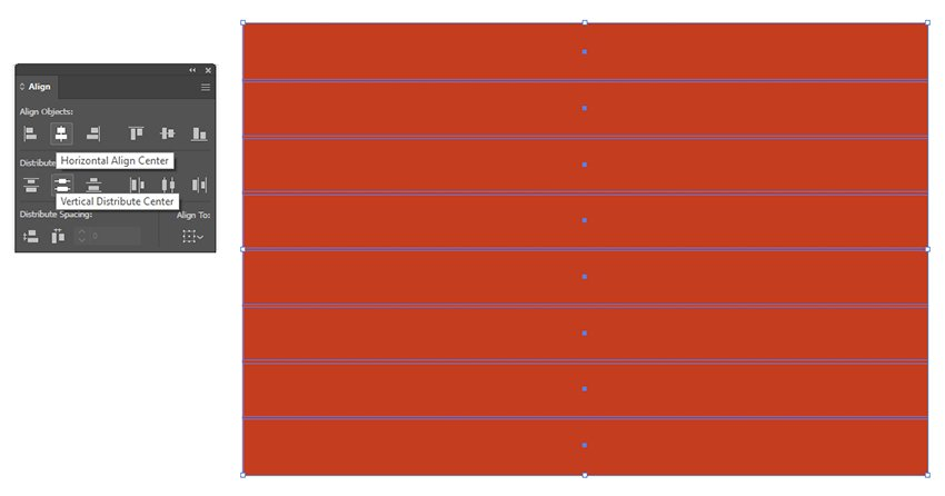 Align the rectangles to form stripes.