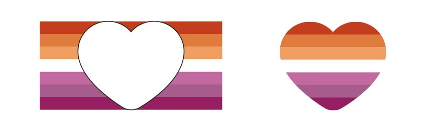 Place your heart over your pride flag and make a clipping mask.