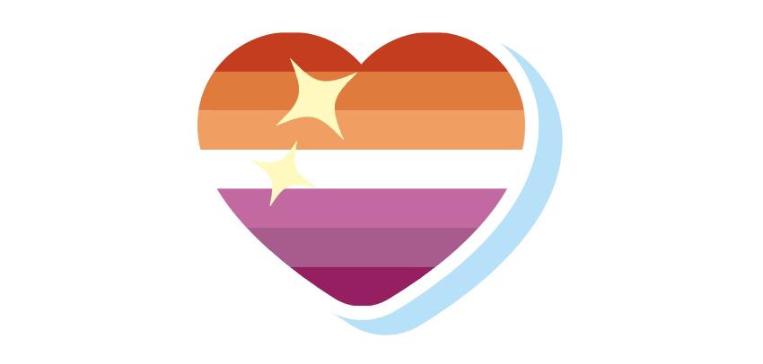 Your completed lesbian pride flag heart emoji!