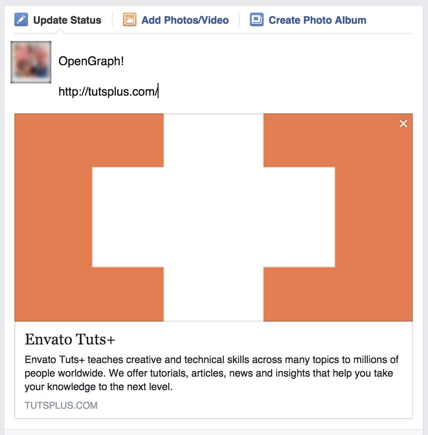 Envato Tuts+ Social Share Screenshot