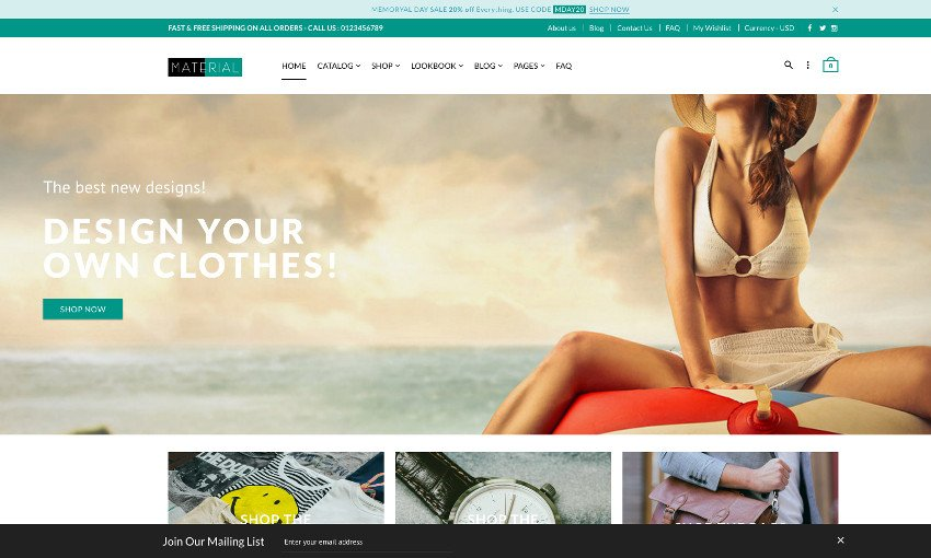 Material - Responsive Shopify Theme