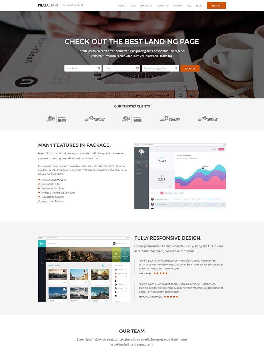 One Page WordPress Landing Page