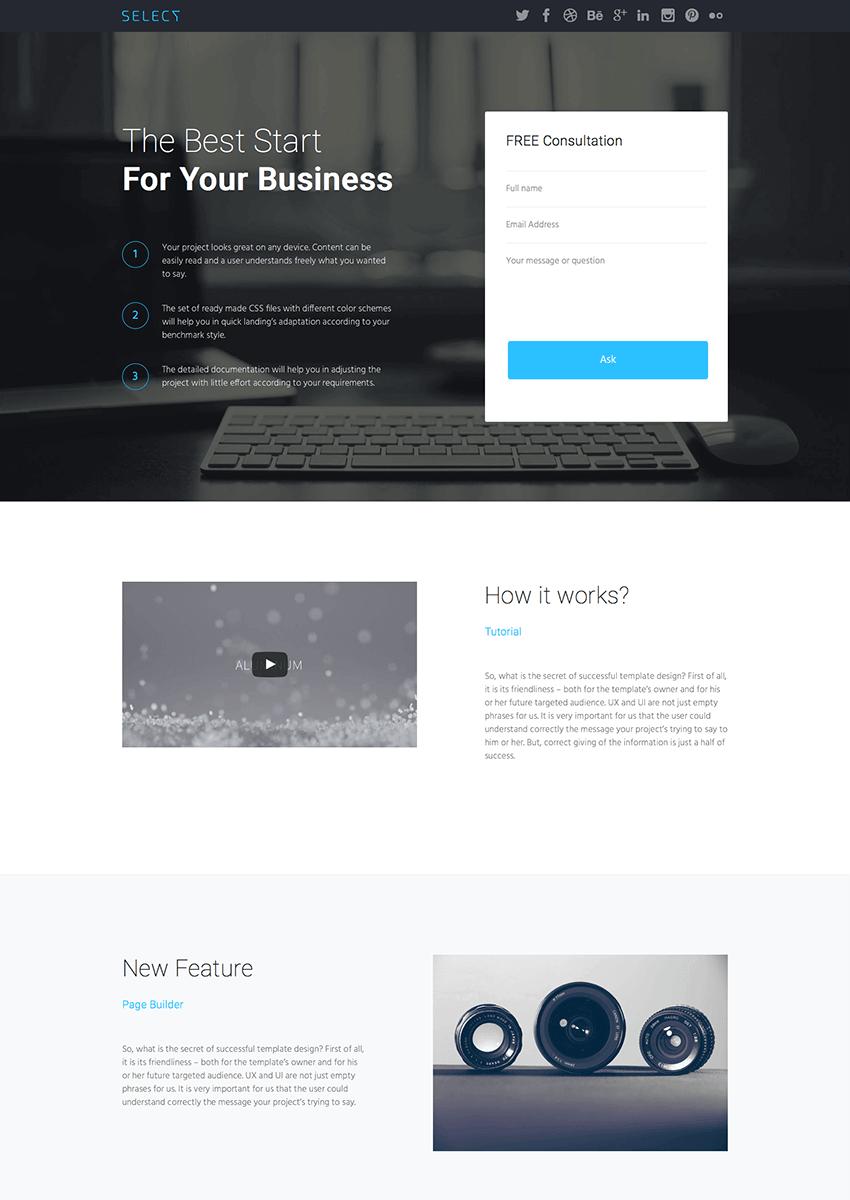 Landing Page WordPress Theme Builder