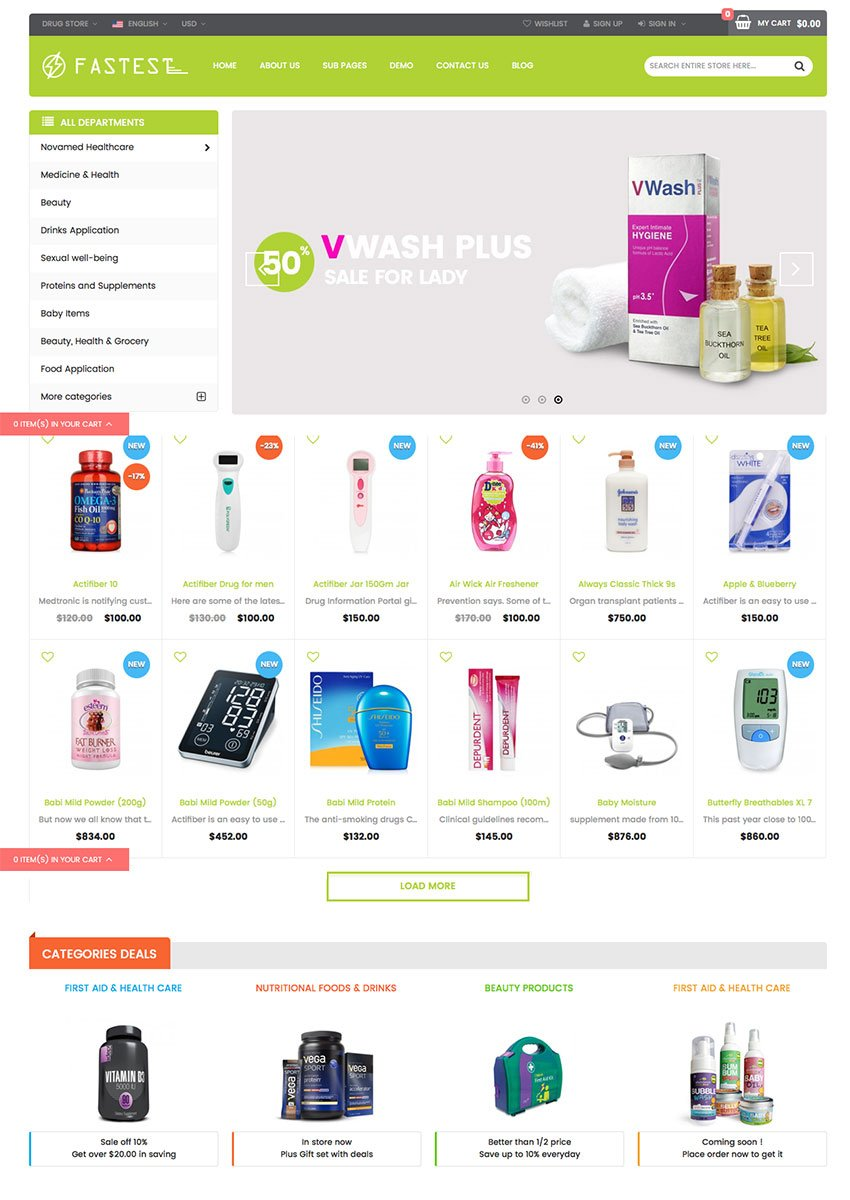 Fastest - 2016 eCommerce Theme Design