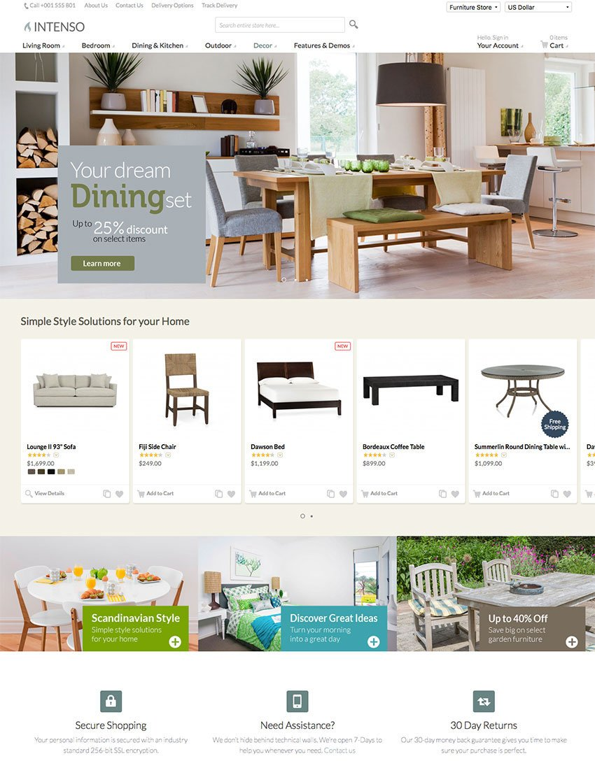 Intenso - 2016 Magento Site Template