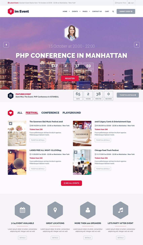 Event Management Professional WordPress Theme