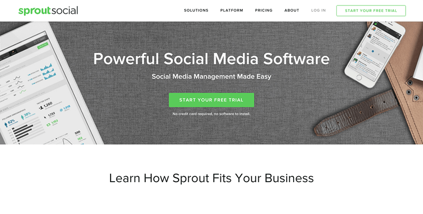 SproutSocial - Advanced social media tool with alerts integrations and more