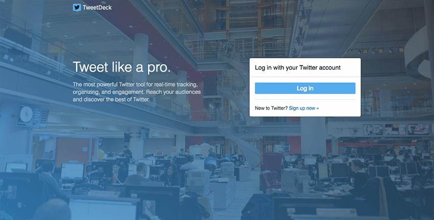 TweetDeck - Twittters official social media management tool