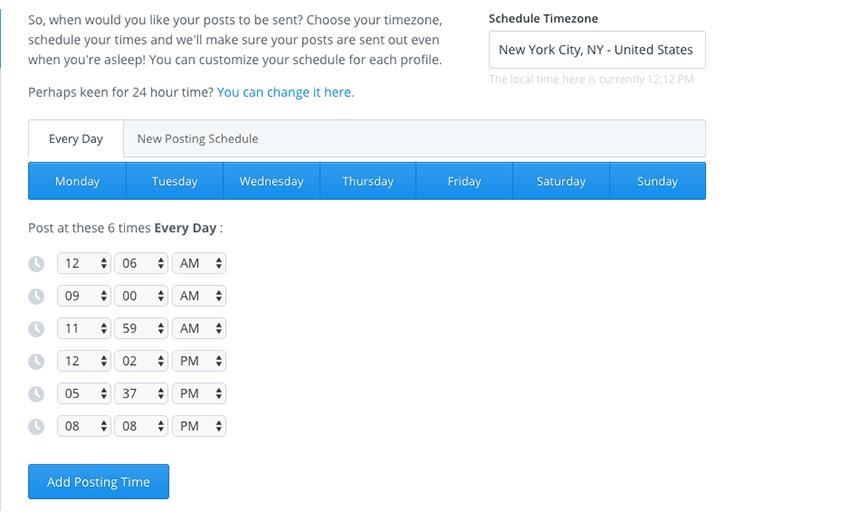 Buffer scheduling is super straightforward