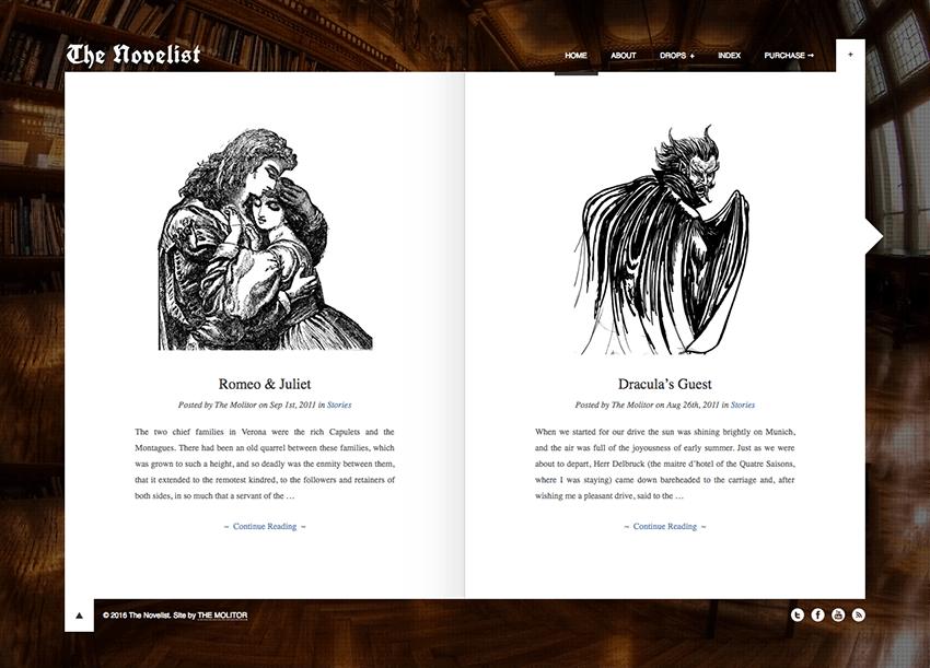 The Novelist Creative WordPress Theme for Writers