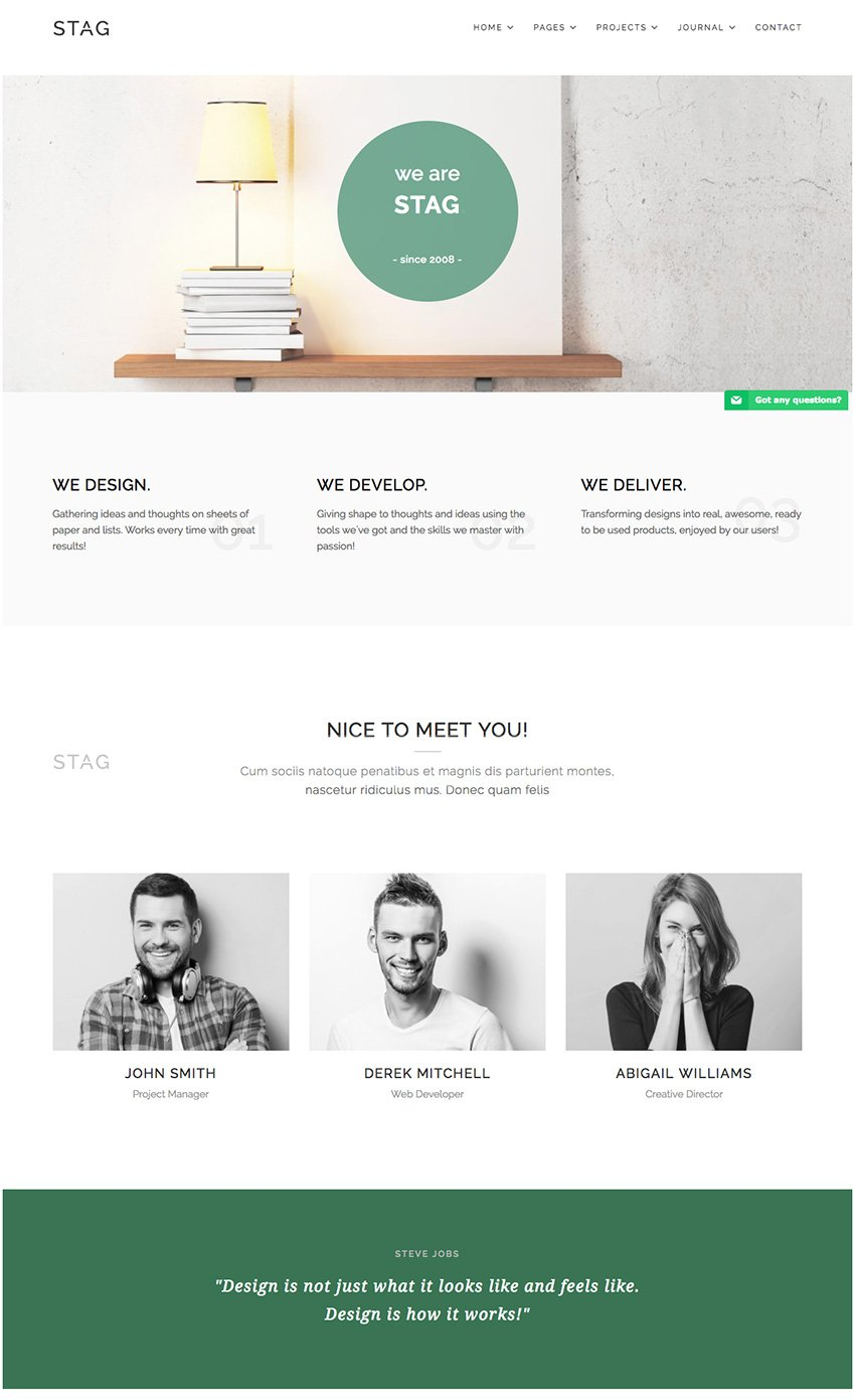 Stag WordPress Theme for Agencies and Freelancers