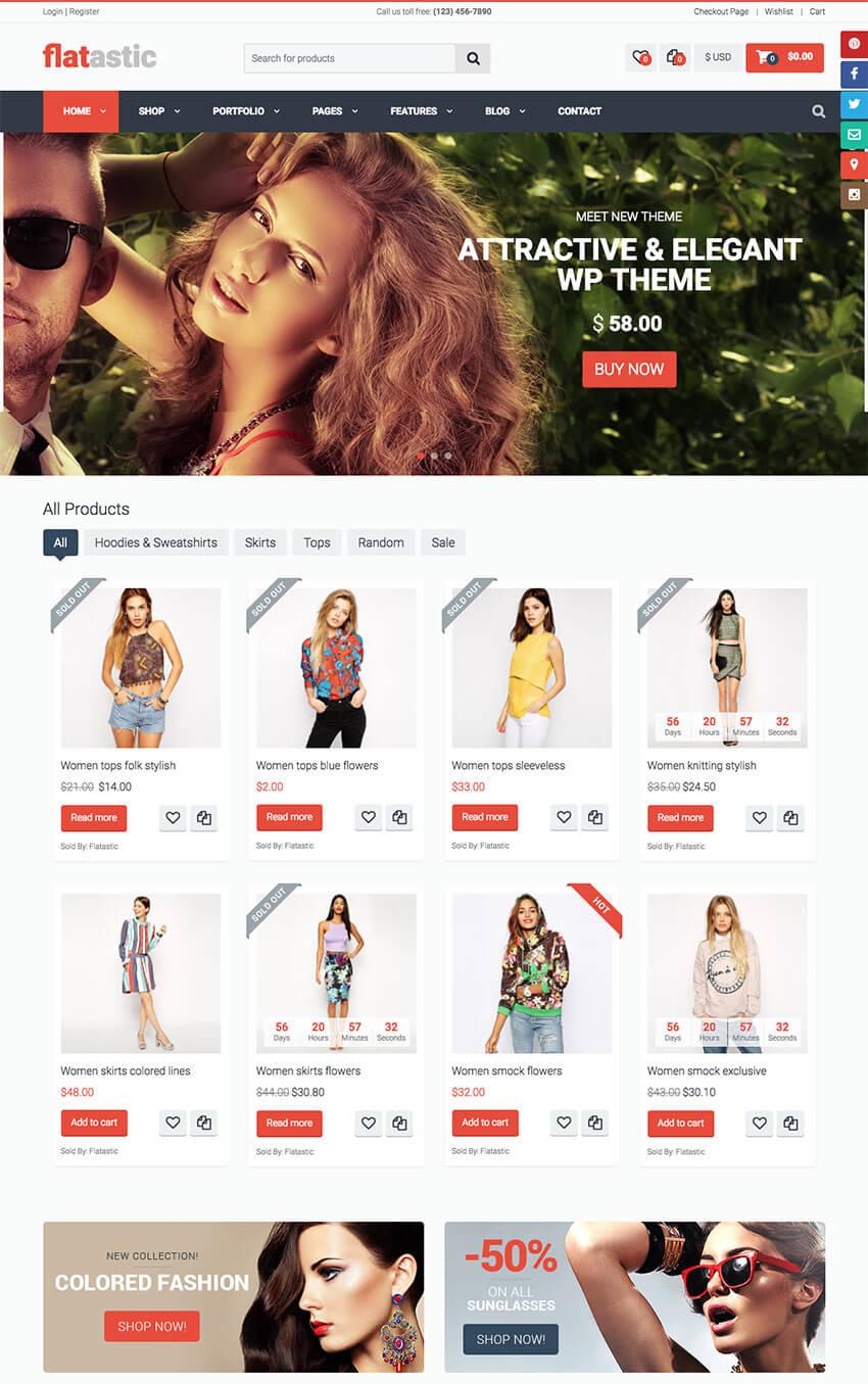 Flatastic Modern Marketplace WordPress Theme