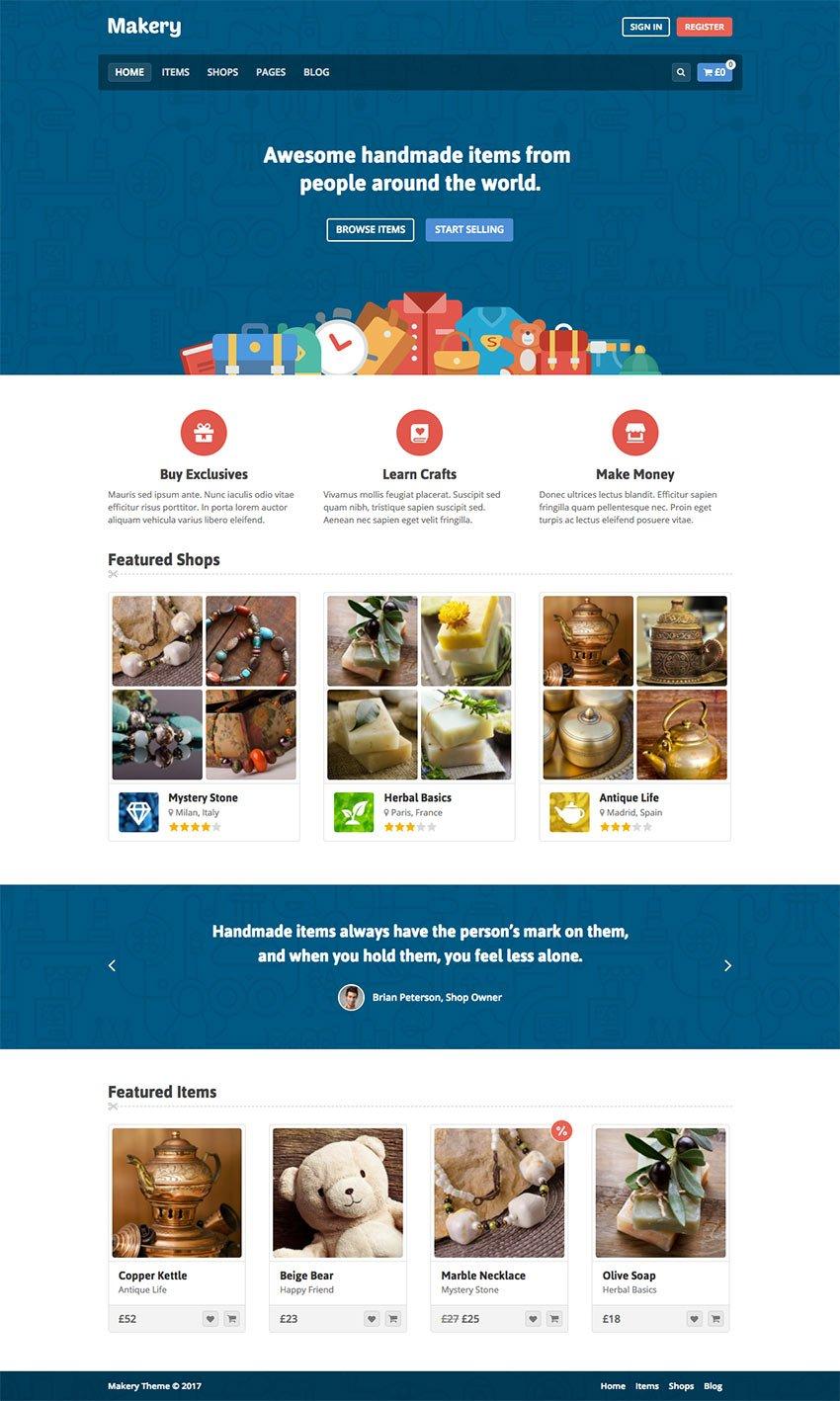 Makery WordPress eCommerce Marketplace Theme