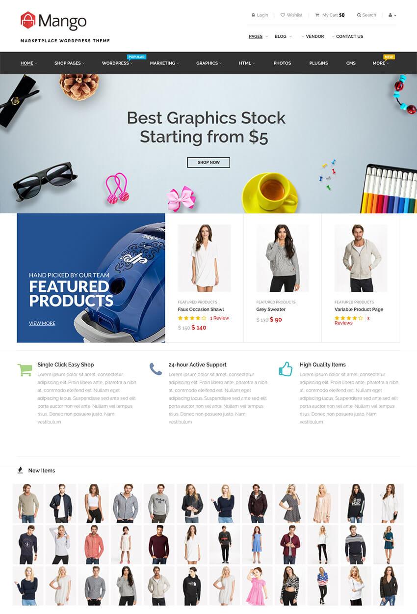 Mango - Wordpress Multipurpose Marketplace Theme