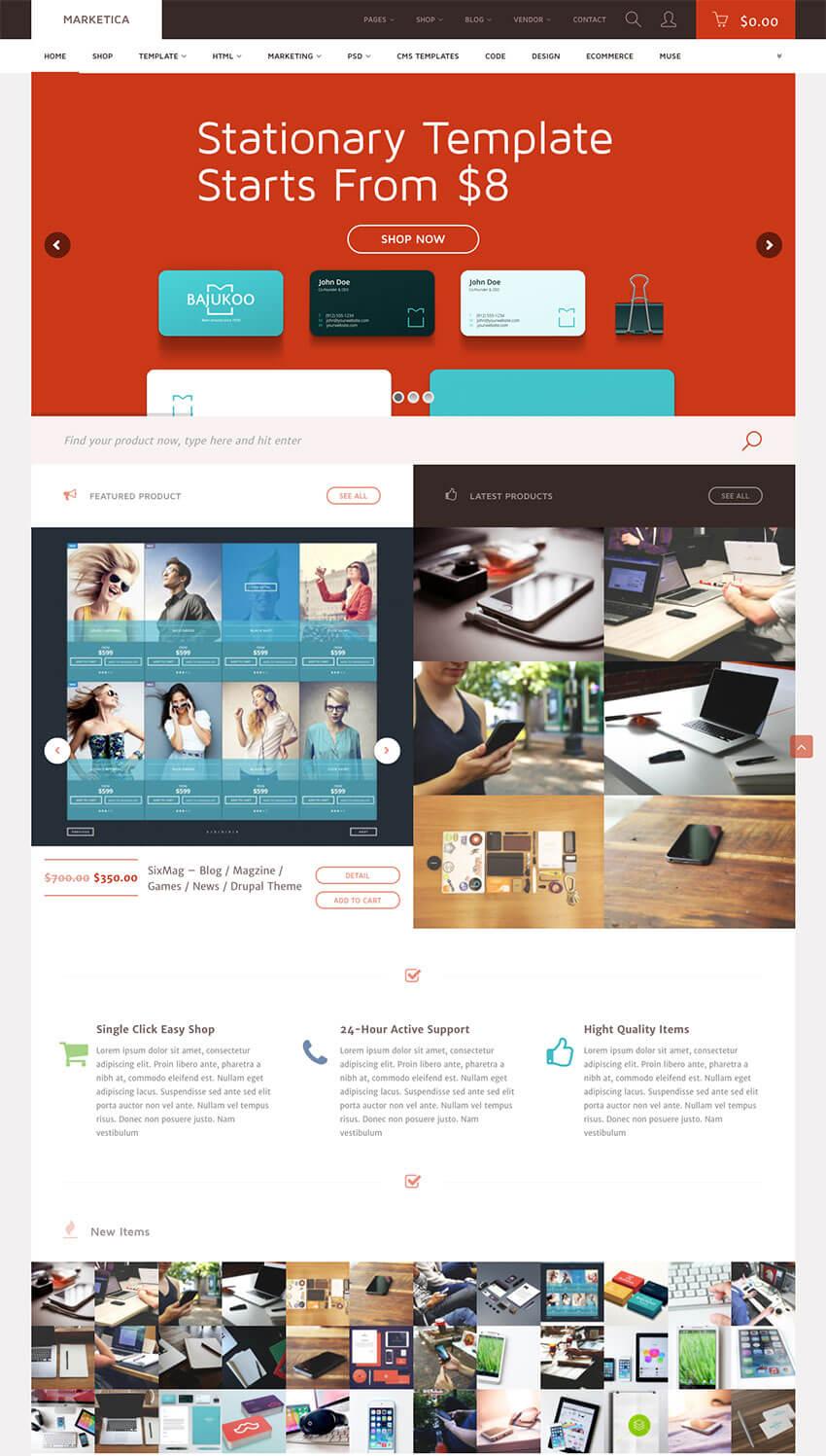 Marketica eCommerce Marketplace WordPress Theme