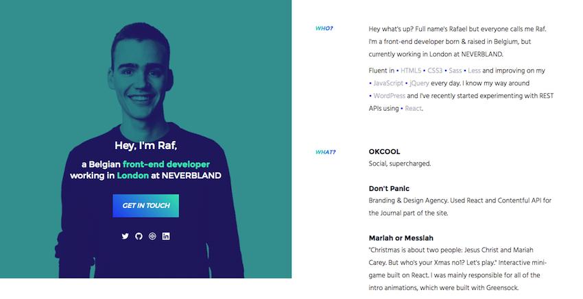 Raf Deorlez resume website