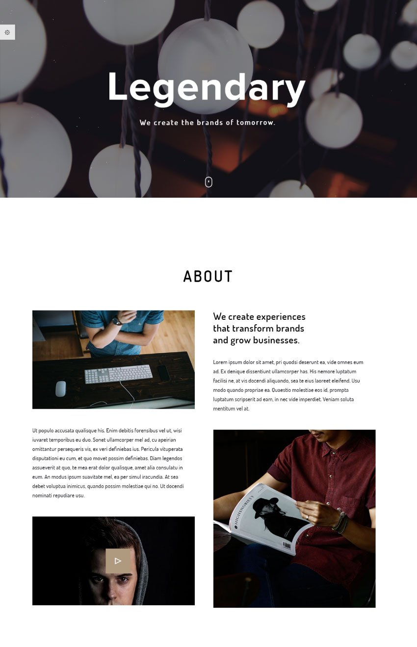 Legendary - Innovative and Versatile One Page Template