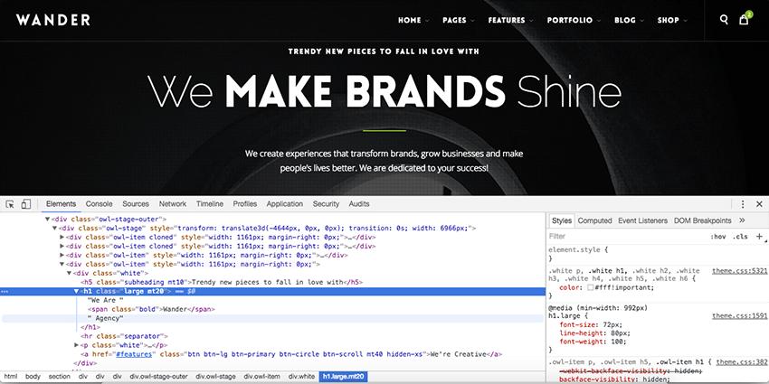 Inspecting HTML