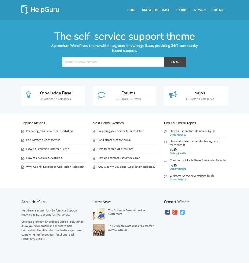 HelpGuru A Self-Service Help WordPress Wiki Theme