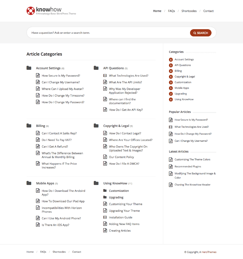 Knowhow Responsive Knowledge-Base WordPress Theme
