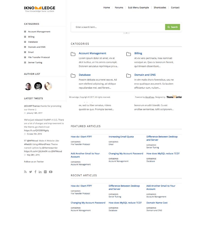 iKnowledge Knowledge-Base Content WordPress Wiki theme