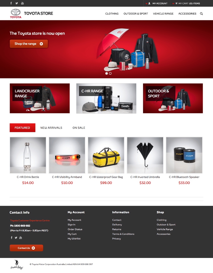 Toyota BigCommerce Store