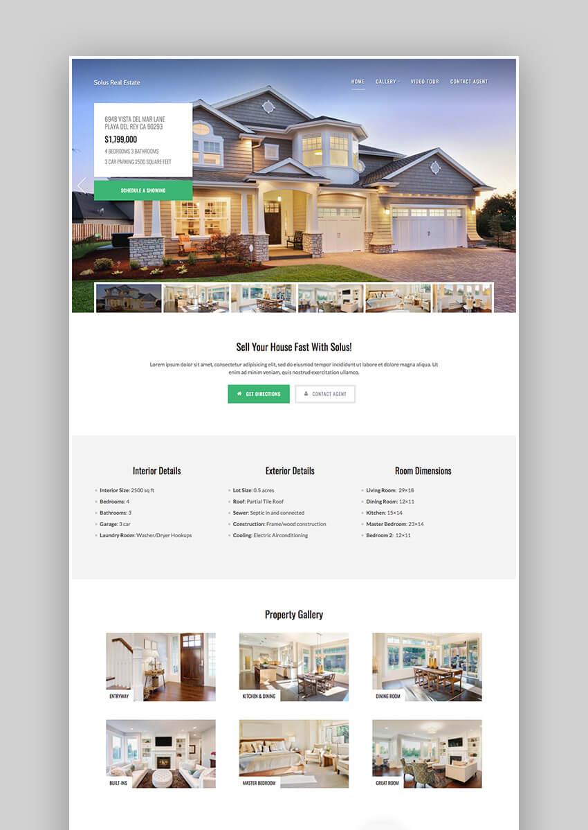 Solus WordPress real estate theme