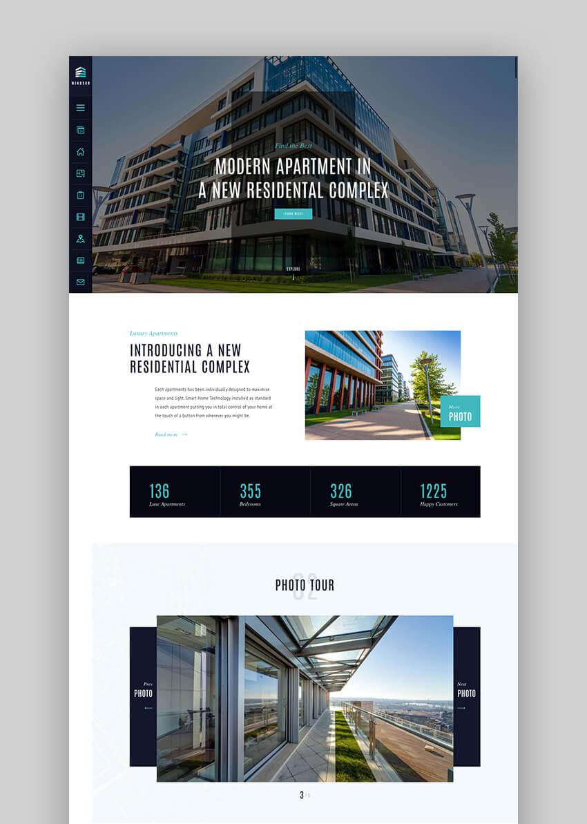 Windsor single property real estate WordPress theme