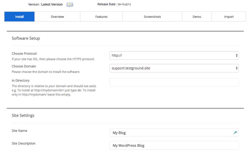 Installing WordPress on a subdomain