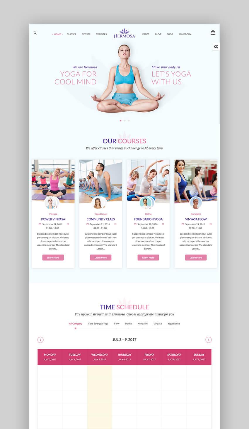 Hermosa health and beauty WordPress theme